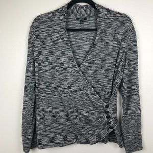 3/$20 Apt. 9 Wrap Long Sleeve Pullover Sweater